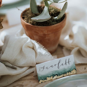 Modern Calligraphy Name Placement Card For Wedding