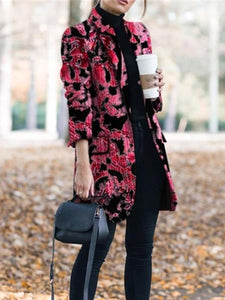 Autumn And Winter Fashion Print Coats