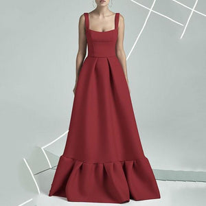 Commuting Bare Back Pleated Dress