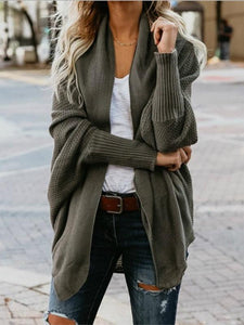 Casual Pure Colour Long Sleeve Sweater