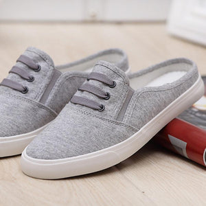Casual Comfortable No-Ankle Flat Canvas
