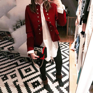 Fashion Double-Breasted Cardigan Small Suit Jacket