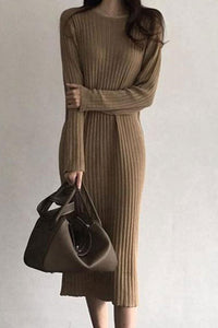 Casual loose Knitted Sweater dress