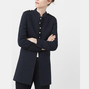 Collar Single-Breasted Coat