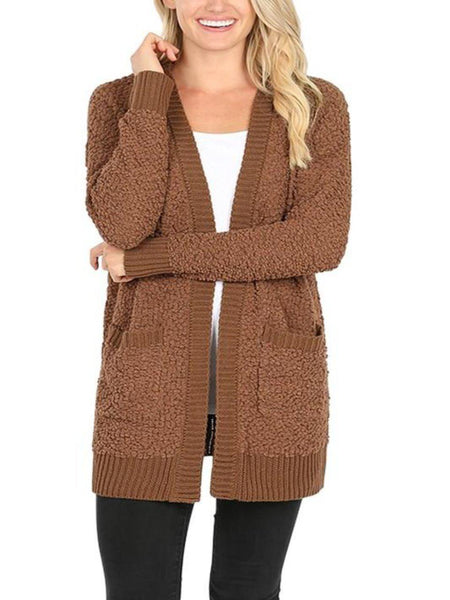 Popcorn Knit Cardigan- CLEARANCE
