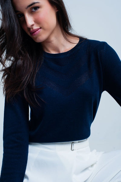 Victoria Navy Sweater