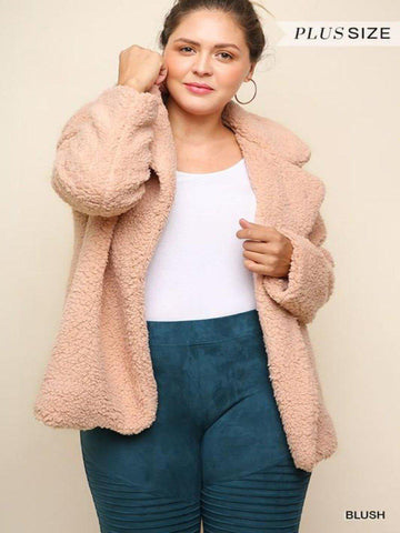 Sherpa Blush Jacket Plus