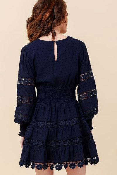 Flourishing Flower Dress in Navy