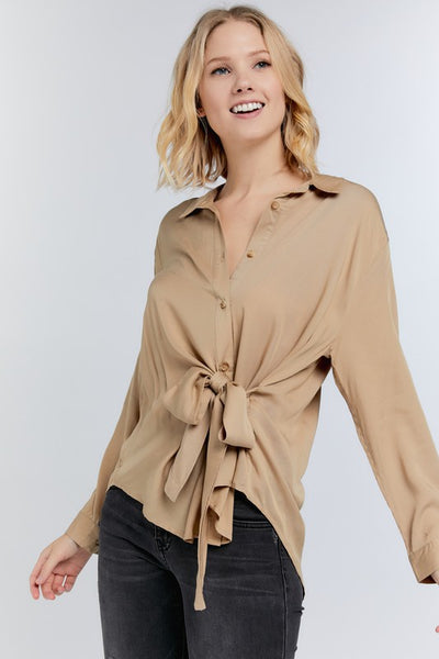 Neutral Nora Blouse