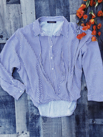Business Casual Striped Top