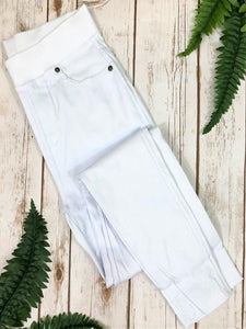 White Skinny Jeggings