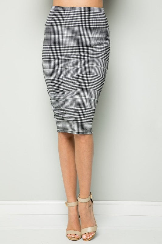 Irish Plaid Pencil Skirt