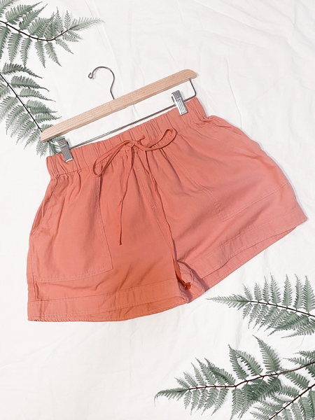 Casual Loose Fitting Short Blush