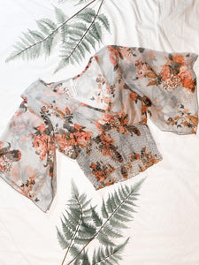 Bouquet of Roses Crop Top