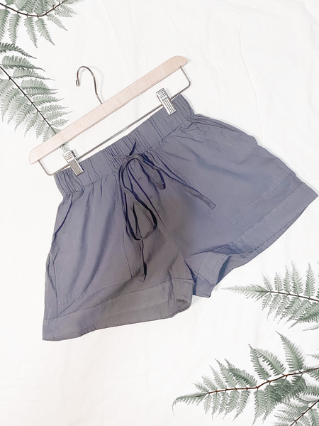 Casual Loose Fitting Shorts Blue