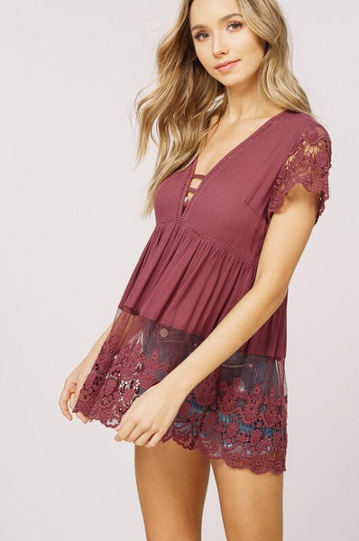 Romantic Lace Top- CLEARANCE