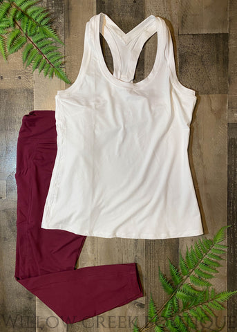 Yoga Top White Reg/Plus