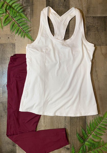 Yoga Top Burgundy Reg/Plus