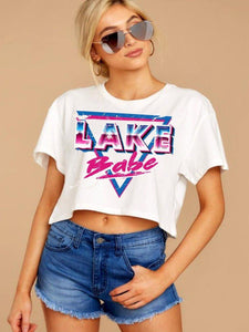 Lake Babe Crop Tee