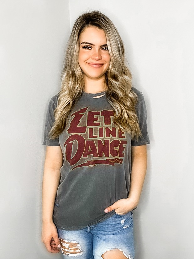 Let's Line Dance Distressed Tee