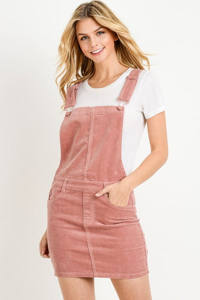 Liz Overall Mini Skirt in Blush