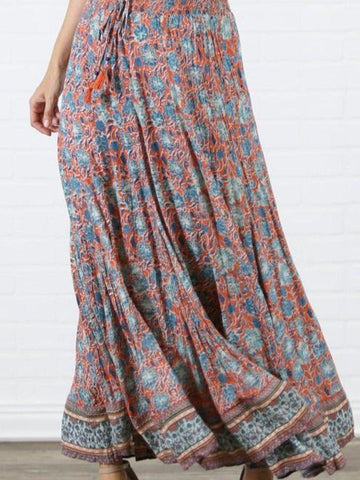 The Bohemian Floral Maxi Skirt