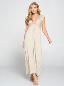 Simply Elegant Taupe Maxi Dress