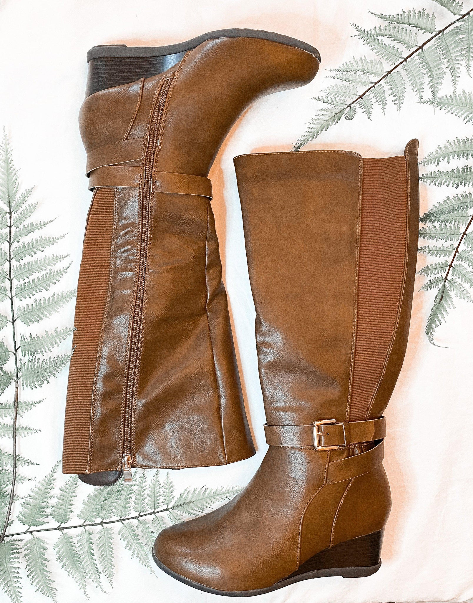 Olivia Brown Boots- Wide Calf