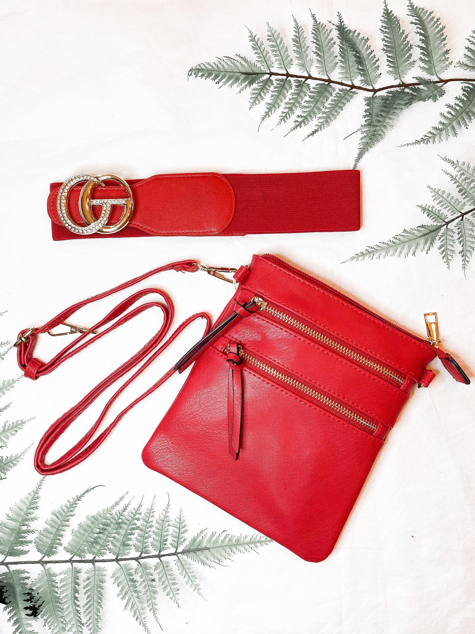 Crossbody Purse in Red