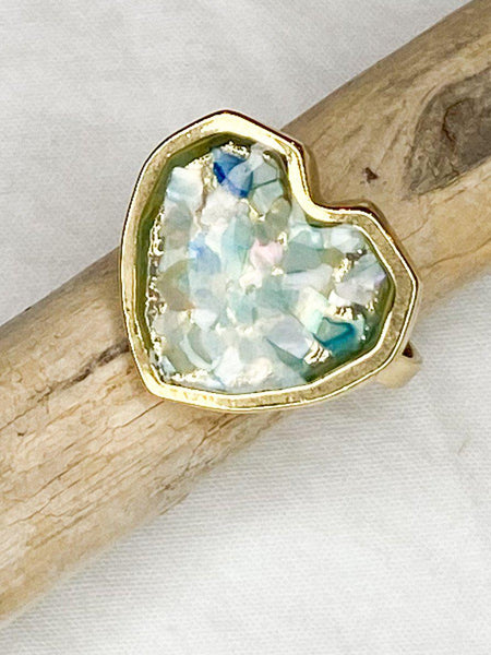 Shimmering Heart Ring