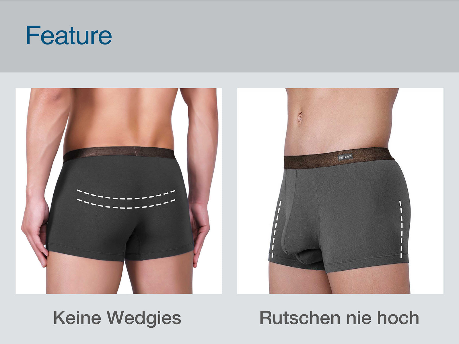 separatec dual pouch underwear feature