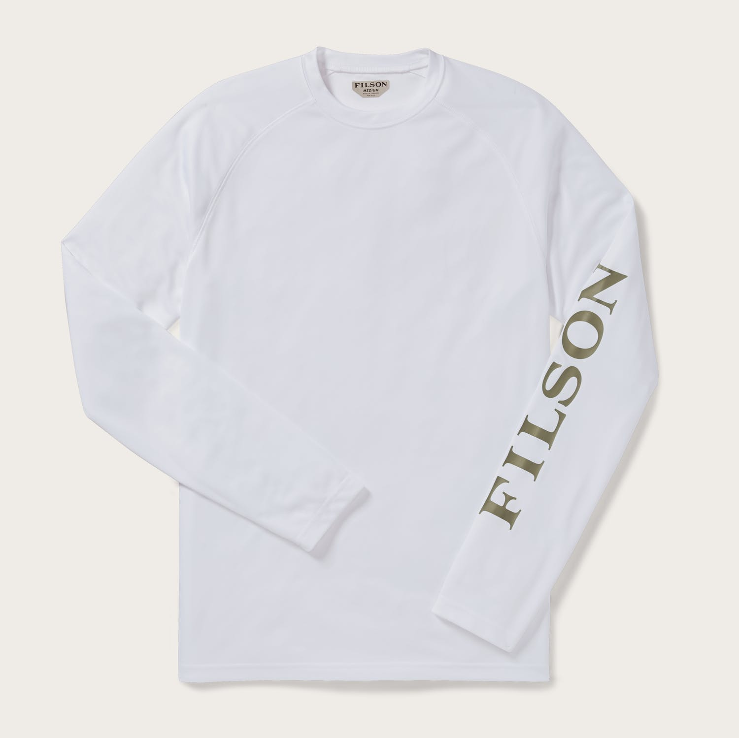Long Sleeve Barrier T-Shirt - White