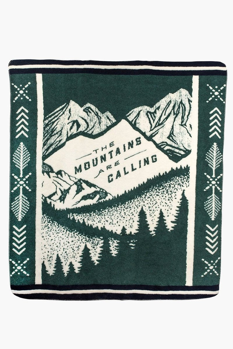 Mountains Are Calling Blanket