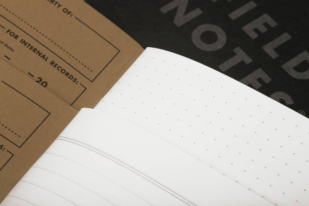 Pitch Black Note Book - Dot Graph