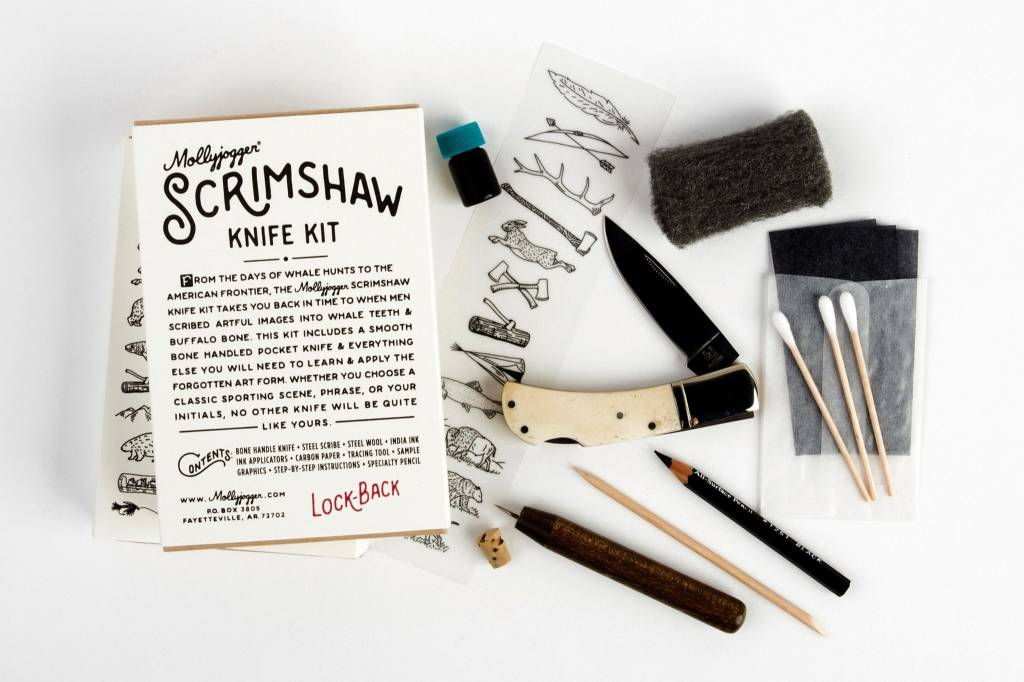 Scrimshaw Kit & Lockback Knife