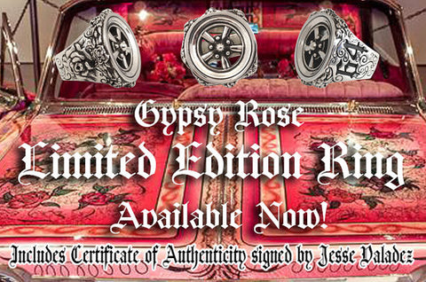 Gypsy Rose Lowrider Ring Numbered with COA from Jesse Valadez (Gypsy Rose Owner)