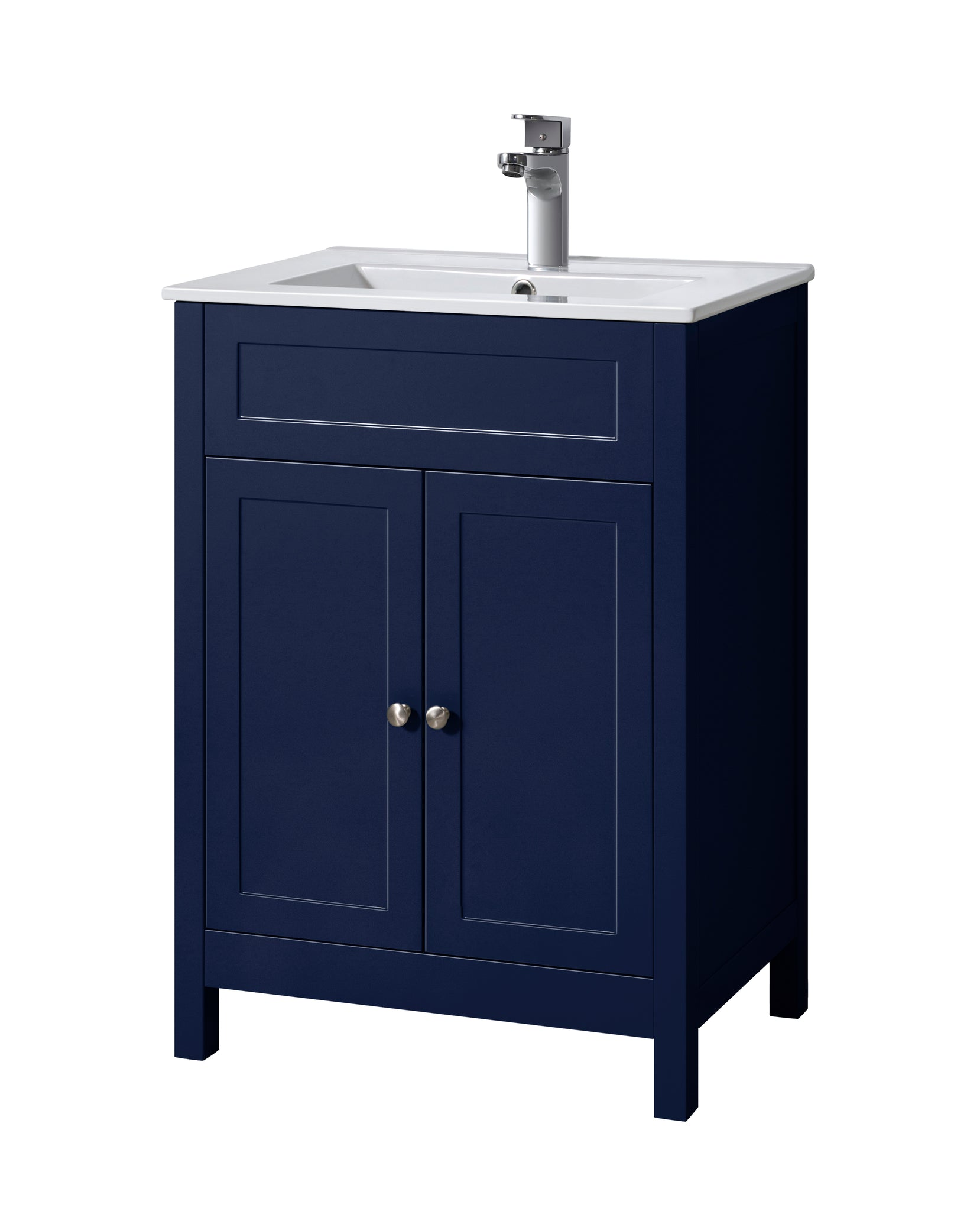 Keenware Kvu 053 Chelsea Shaker Style Sapphire Blue Vanity Unit With T Eurogenco