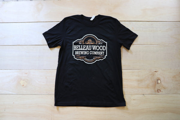 V-Neck BWBC Main Logo T-shirt (unisex) - Belleau Wood Brewing Company