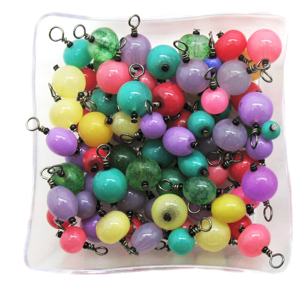 Bright Beads on Black - Colorful Dangle Charms - Adorabilities Charms