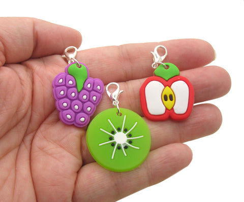 Fruit Clip-On Charms - Kawaii Cute Food Charms with Clasps - Adorabilities Charms & Trinkets