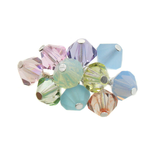 Easter Charms - Pretty Pastel 6mm Czech Crystal Bead Charms - Adorabilities Charms