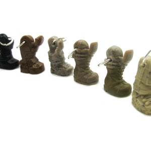 Tiny Boots Charms -  Soldier Boot Acrylic Bracelet Charms - Adorabilities Charms