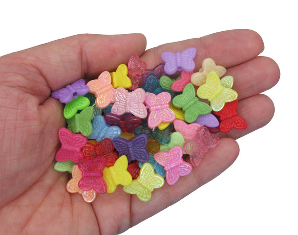 Small Acrylic Butterfly Beads - Cute Kandi Beading Supply - Adorabilities Charms