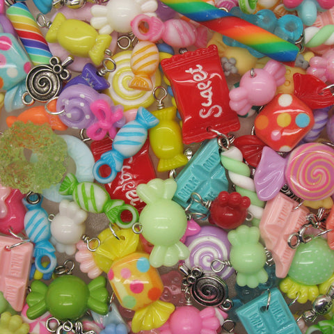 Candy Charms - Mixed Sweets Lollipop Chocolate Kawaii Charms - Adorabilities Charms
