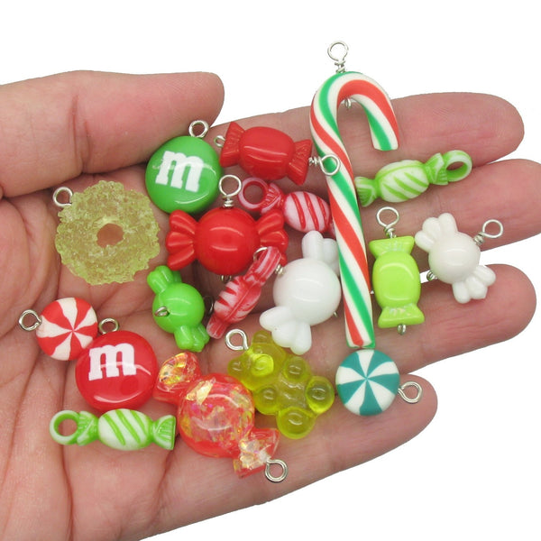 Christmas Candy Charms - Mixed Sweets Kawaii Charms - Adorabilities Charms & Trinkets