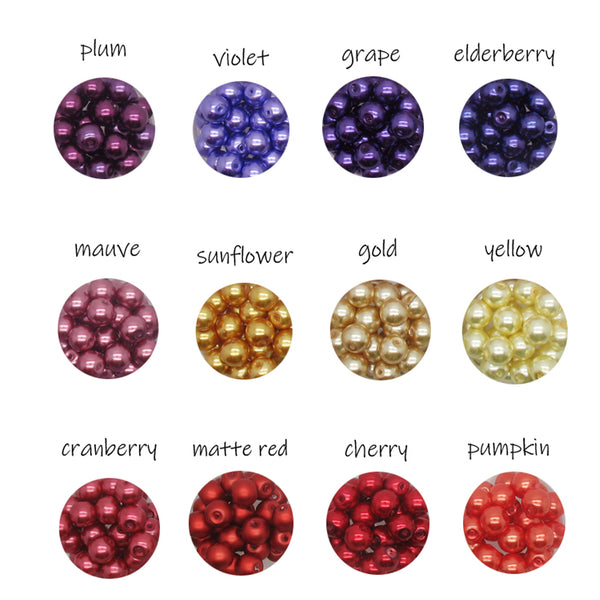 8mm Glass Pearl Charms - Clearance Bead Dangle Charms - Adorabilities Charms & Trinkets
