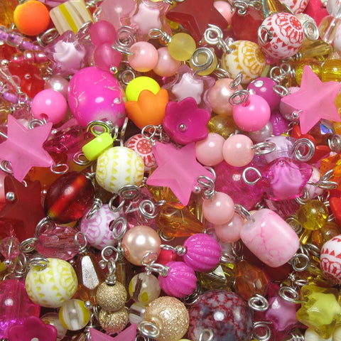 100 Warm Bead Charms - Pretty Dangle Charms Wholesale - Adorabilities Charms