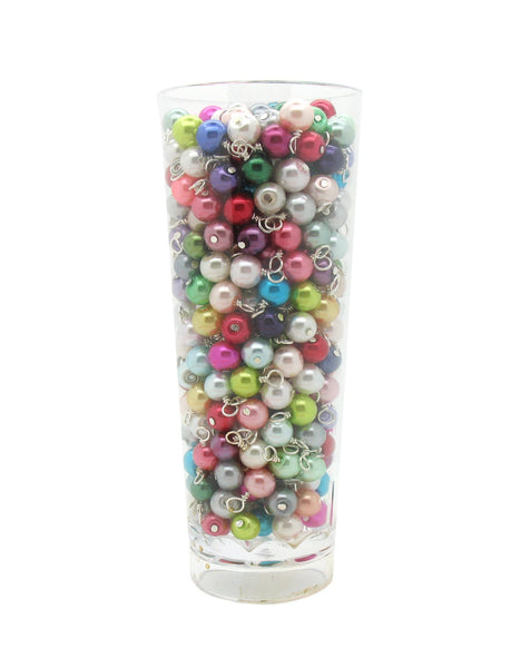 Small Bracelet Charms - 6mm Glass Pearl Bead Dangles DIY Charm Bracelets Bulk - Adorabilities Charms