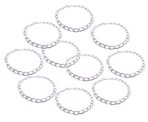 10 Blank Charm Bracelets - Party Pack Charm Bracelet Bases Chains - Adorabilities Charms & Trinkets