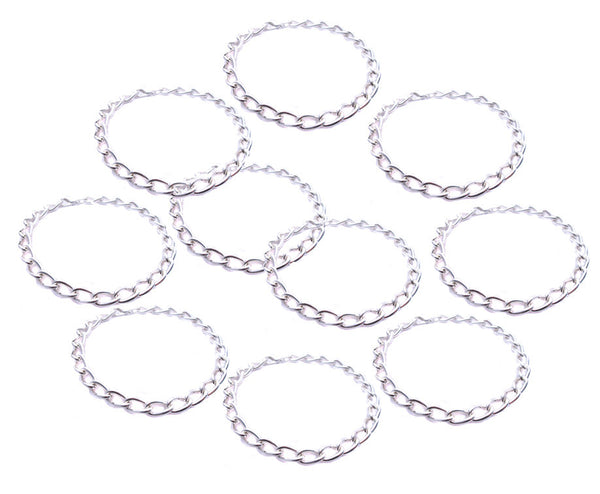 10 Blank Charm Bracelets - Party Pack Charm Bracelet Bases Chains - Adorabilities Charms
